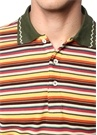 Colorblocked Çizgili Polo Yaka T-shirt