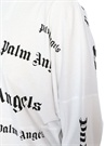 Beyaz Logo Baskılı Oversize Uzun Kol T-shirt