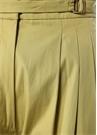 Yeşil Yüksek Bel Pileli Bol Paça Pantolon
