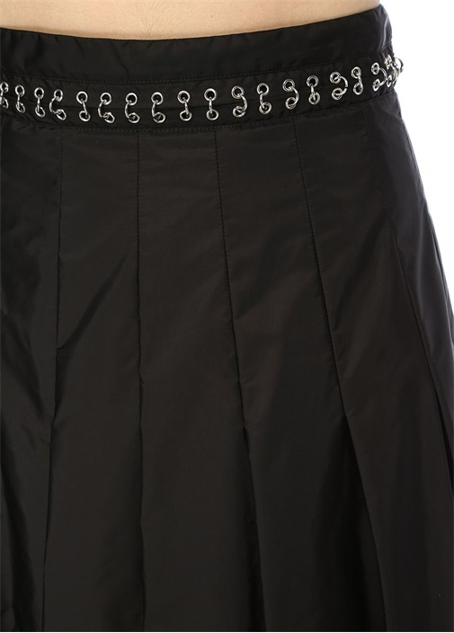 6 Moncler Noir Kei Ninomiya Siyah Midi Pileli Etek