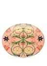 Pembe Çiçek Baskılı 2li Seramik Tatlı Tabağı