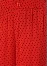 Kırmızı Yüksek Bel Puantiyeli Pantolon
