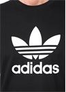 Trefoil Siyah Logo Baskılı Basic T-shirt