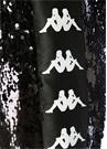 Siyah Yüksek Bel Logo Şeritli İşlemeli Pantolon