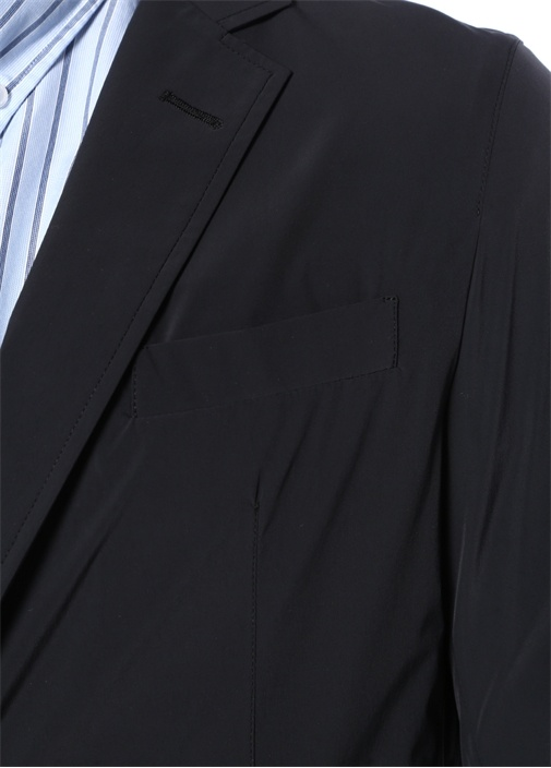Siyah Kelebek Yaka Dış Ceket