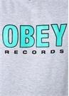 Records 2 Gri Melanj Kapüşonlu Sweatshirt