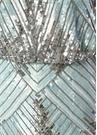 Mavi Silver V Yaka İşlemeli Maksi AbiyeElbise