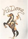 Beyaz At Baskılı Basic T-shirt