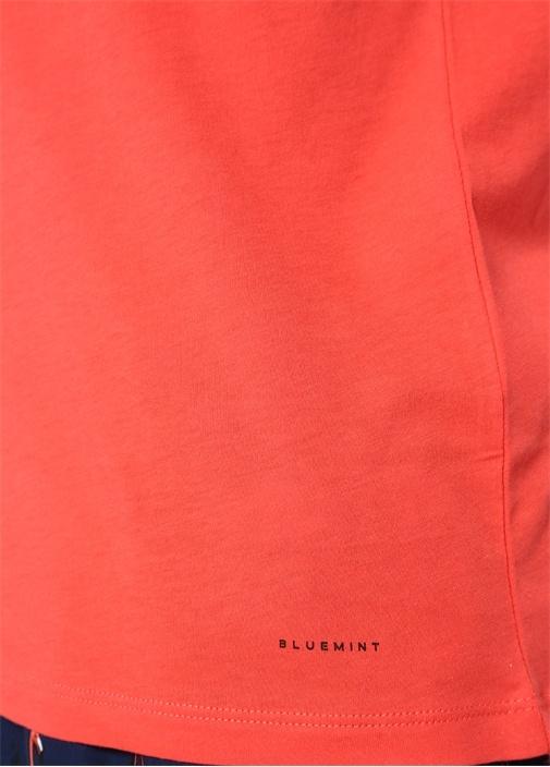 Edward Kırmızı Bisiklet Yaka Basic T-shirt