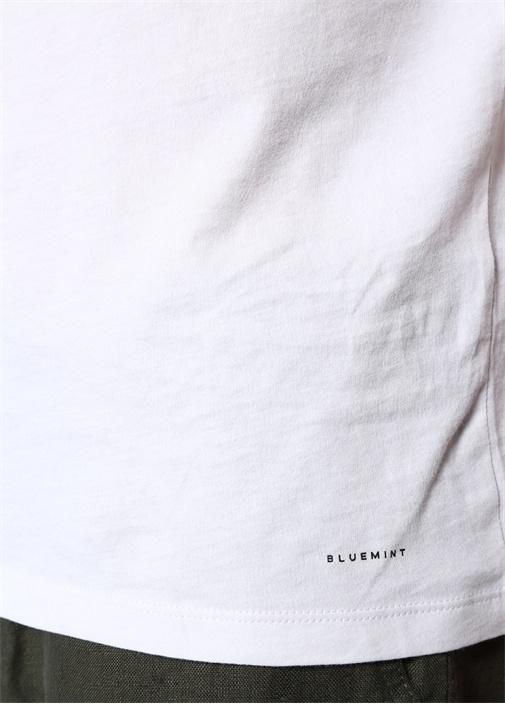 Edward Beyaz Basic T-shirt