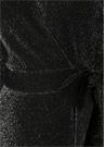 Siyah V Yaka Midi Simli Örme Anvelop Elbise