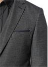 Gri Kırçıllı Kelebek Yaka Blazer Ceket