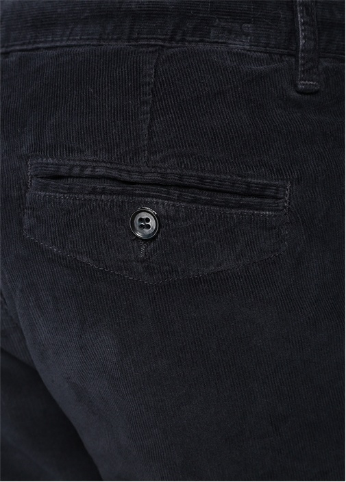 Lacivert Beli Kordonlu Kadife Spor Pantolon