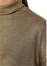 Gold Balıkçı Yaka Düşük Kol T-shirt