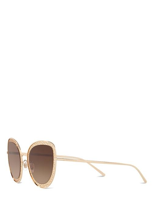 Cuore Sacro Gold Cat Eye Kadın Güneş Gözlüğü