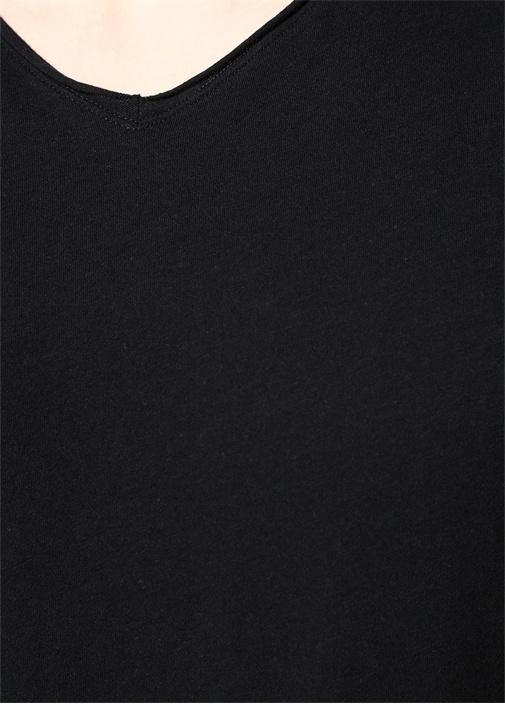 Figure Siyah V Yaka T-shirt