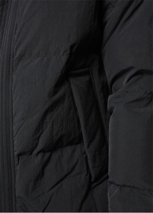 Valdek Siyah Kapüşonlu Kaban