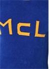 Lacivert Sarı Kabartmalı Logolu Ribli Kazak