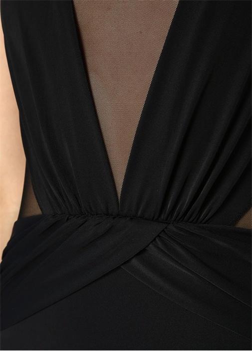 Elvira Siyah Tül Detaylı Transparan Mayo