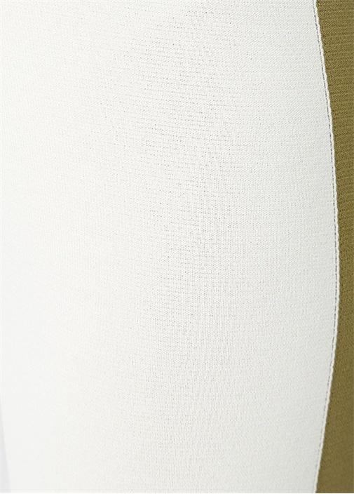 Enna Beyaz Yüksek Bel Şeritli Bol TrikoPantolon