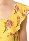 Elisabetta Sarı Çiçekli Sırt Detaylı Maksi Elbise