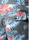 Ginger Gri Mavi Yaprak Baskılı Çiçekli Şort