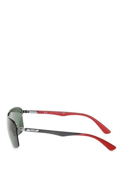 Siyah Dikdörtgen Formlu Erkek Güneş Gözlüğü