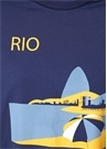 Rio Post Card Lacivert Baskılı Jersey T-shirt
