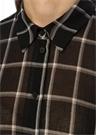 Siyah Kare Desenli Mendil Formlu Bol Gömlek