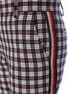 Vintage Ekose Desenli Şeritli Bol Paça Pantolon