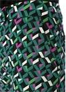 Geometrik Desenli Bol Paça İpek Pantolon