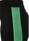 Siyah Yeşil Taşlı Bant Detaylı Triko Pantolon