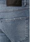 XSlim Fit Mavi Yıpratmalı Jean Pantolon