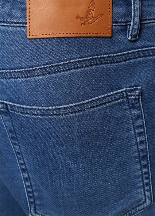 XSlim Fit Mavi Normal Bel Jersey Jean Pantolon
