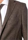 Drop 8 Kahverengi Balıksırtı Dokulu Yün Soft Ceket