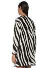 Zebra Desenli Bol Kesim Hırka