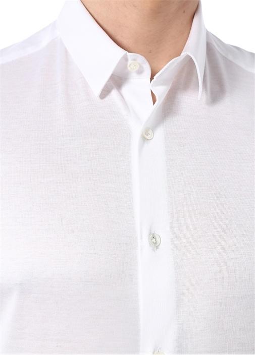 Regular Fit Beyaz İngiliz Yaka Gömlek