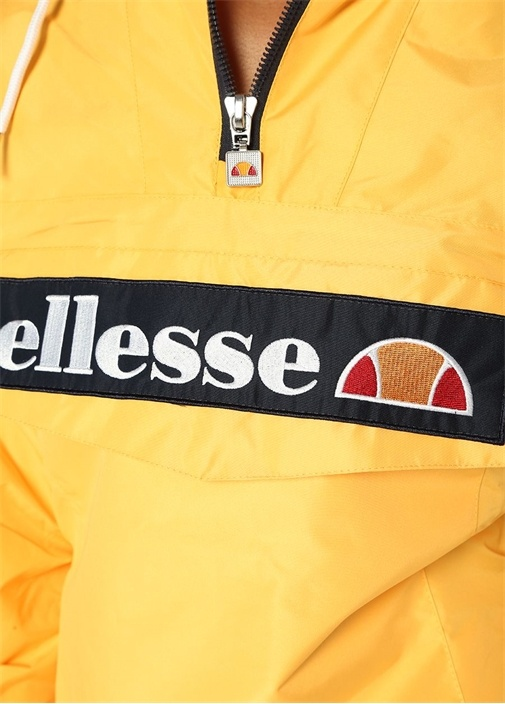 Mont 2 Sarı Kapüşonlu Logo Patchli Sweatshirt