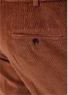 Kiremit Normal Bel Çizgi Dokulu Kadife Pantolon