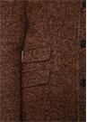Kamel Kelebek Yaka Balıksırtı Desenli Yün Palto
