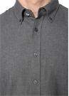 Comfort Fit Gri Düğmeli Yaka Gömlek