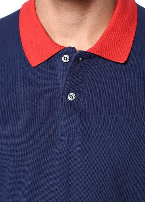 Comfort Fit Kırmızı Lacivert Polo Yaka T-shirt