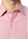 Kırmızı Çizgili İngiliz Yaka Gömlek