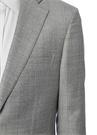 Gri Kelebek Yaka Kareli Yün Takım Elbise