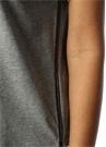 Gri Yanı Taş Şeritli T-shirt