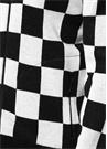 Siyah Beyaz Ekose Desenli Yün Bomber Hırka