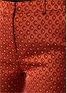 Turuncu Mikro Jakarlı Boru Paça Pantolon