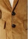 Kamel Kolu Patch Detaylı Kadife Blazer Ceket