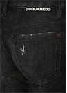 Jennifer Siyah Yıpratmalı Crop Jean Pantolon