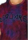 Mor Batik Desenli Logolu Dikiş Detaylı T-shirt